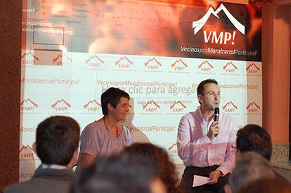 Gema Duque y Juan Carlos Rodriguez en la presentación de VecinosMP