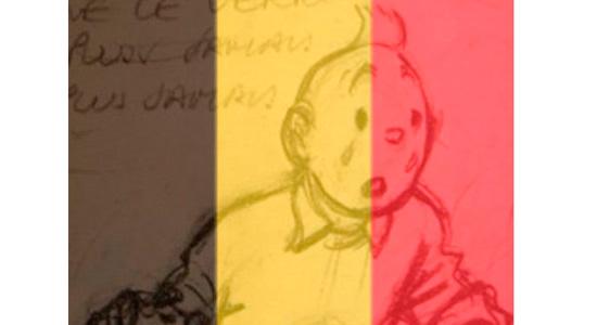 Tintín y la bandera de Bélgica