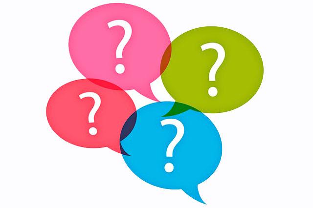 Signos de interrogación dentro de bocadillos de diálogo
