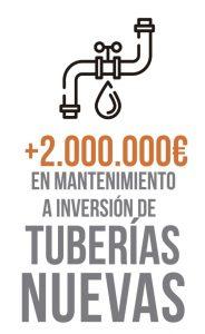 Inversión en tuberías agua Moralzarzal